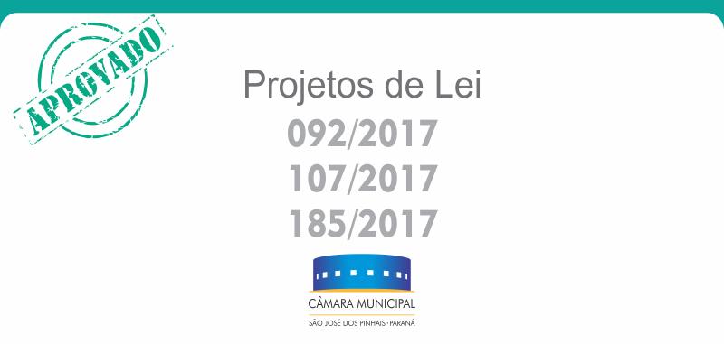 Projetos de Lei aprovados nesta quinta-feira, 05 de outubro*: