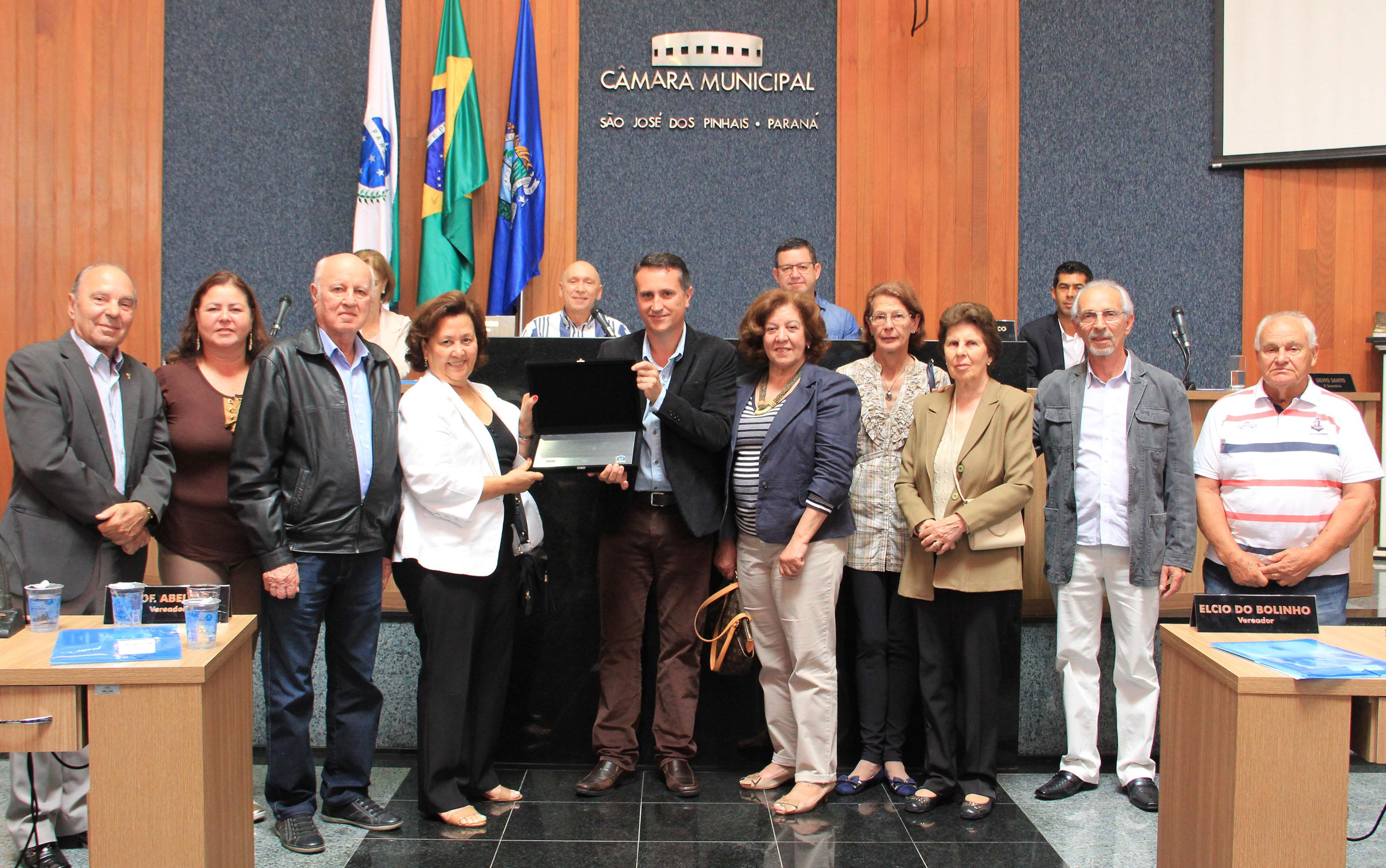Câmara homenageia Manoel Alves Pereira, eleito um dos primeiros vereadores do município.