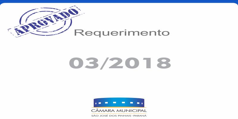 Requerimento aprovado* nesta terça-feira, 20 de fevereiro: