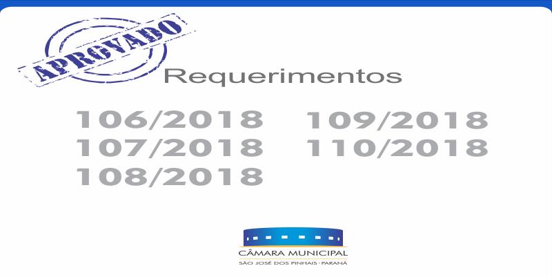 Requerimentos aprovados* nesta quinta-feira, 14 de junho: