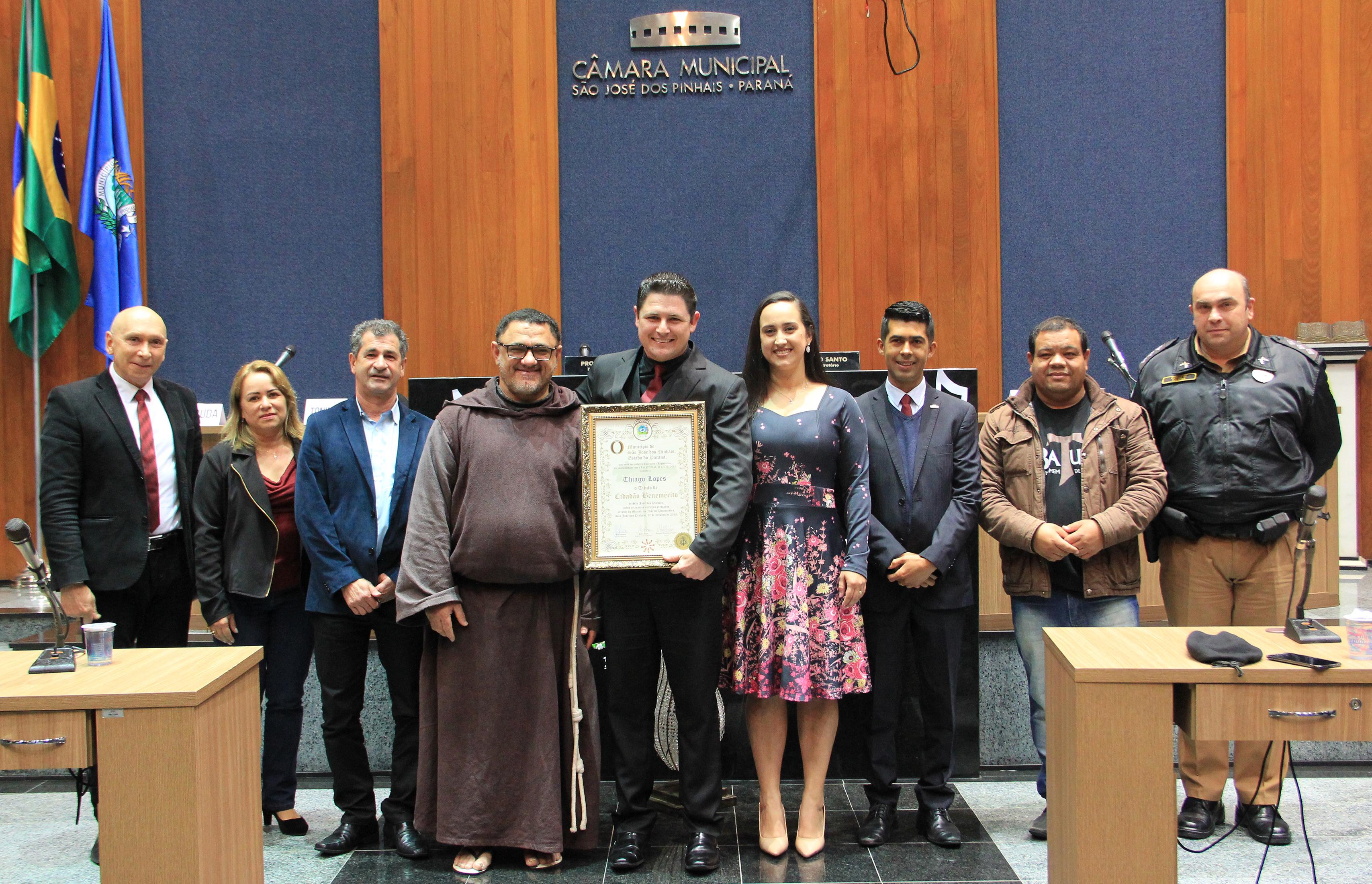 Thiago Lopes recebe Título de Cidadão Benemérito