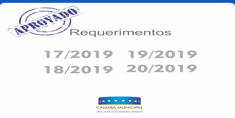 Requerimentos aprovados* nesta terça-feira, 12 de março: