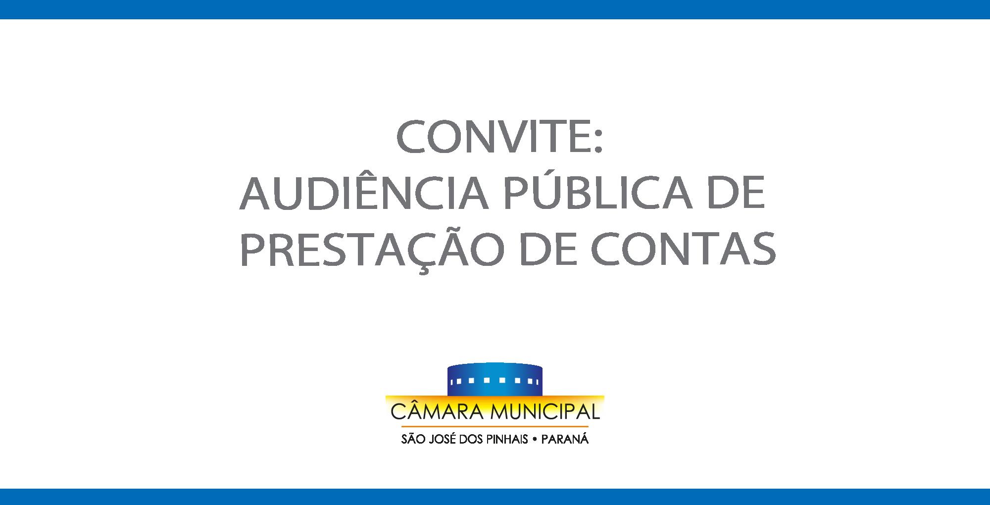 Convite: Audiência Pública de prestação de contas – 3º quadrimestre de 2020